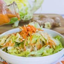 saláta és dresszing